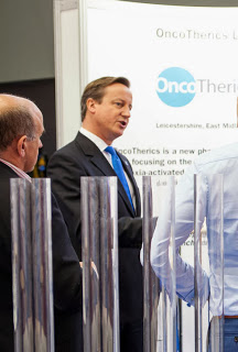 Prime Minister David Cameron talking with Mike Leyland